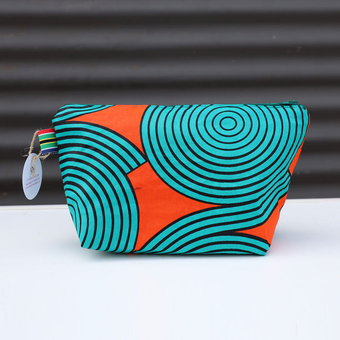 African Wax Print Cosmetic Bag (several patterns available)