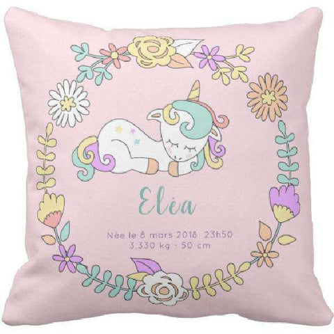 Coussin naissance Licorne Pink - Ingenious-Gadget