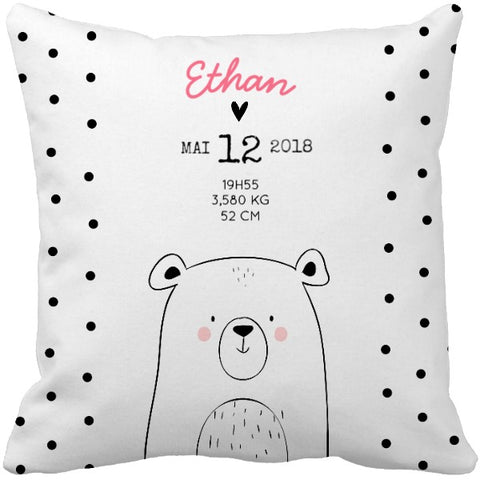 Coussin naissance ours