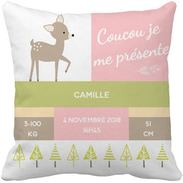 Coussin naissance Camille