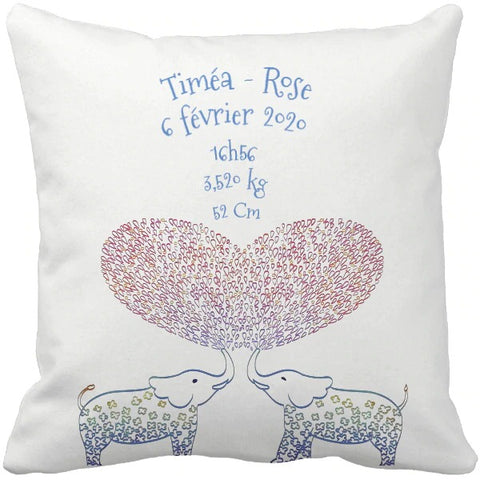 Coussin naissance Timea-Rose