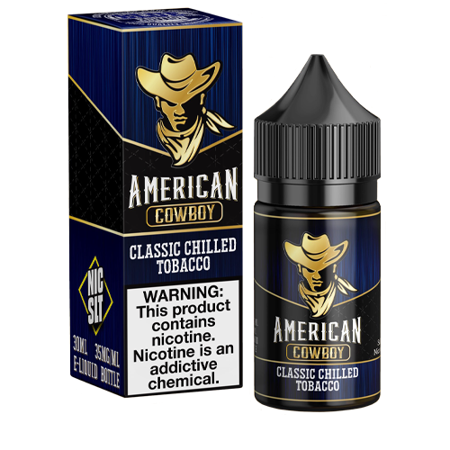 Classic Chilled Tobacco by American Cowboy Nic Slt 30ml