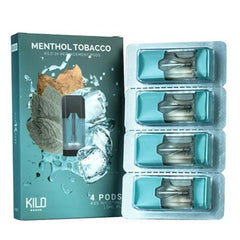 Menthol Tobacco Replacement POD 4 Pack By Kilo 1K