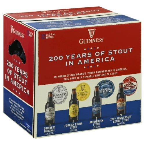 Guinness, 200 Years of Stout in America, 12 Pack Bottles