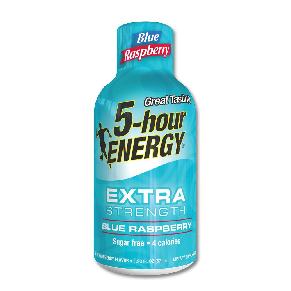 5-hour Energy Extra Strength Blue Raspberry, Single Bottle