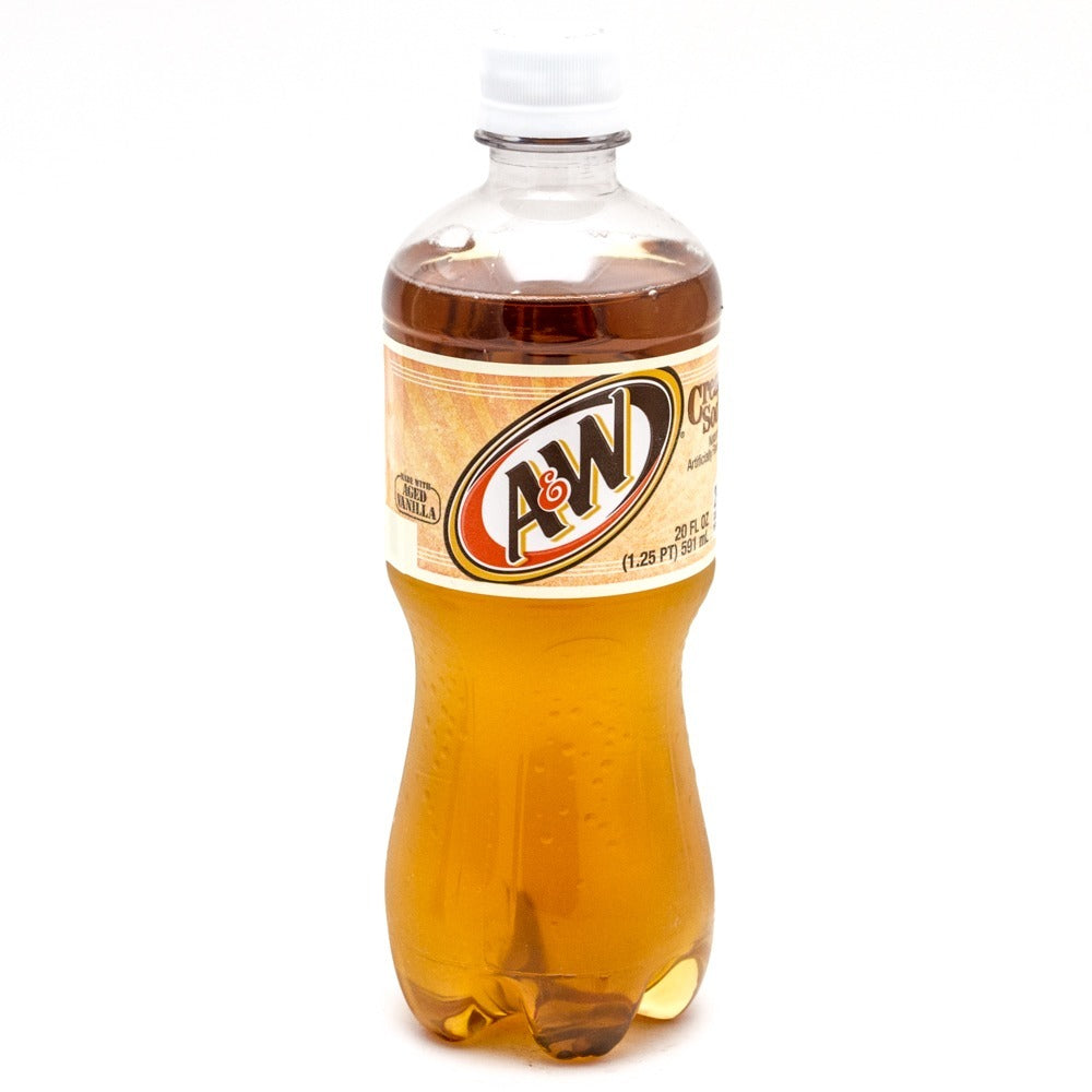 A&W Cream Soda, 20 fl oz Bottle