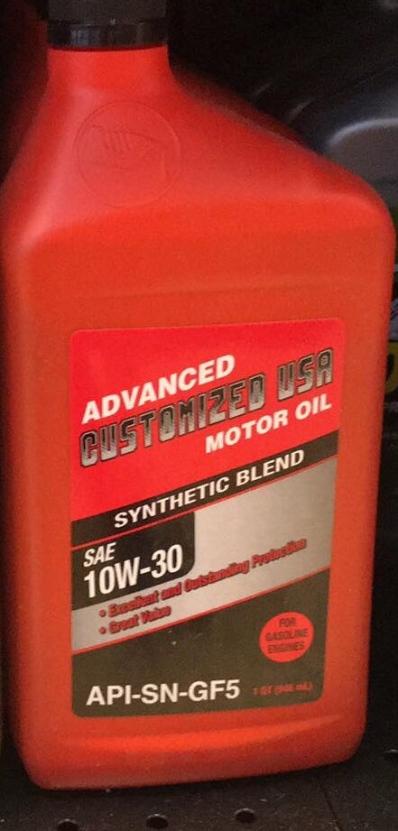 Advanced Synthetic Blend, SAE 10W-30 Motor Oil