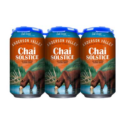 Anderson Valley Brewing Co, Chai Solstice Ale, 6 Pack Cans