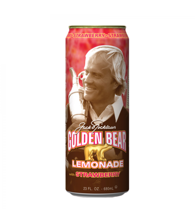 Arizona Tea Golden Bear Lemonade with Strawberry, 23.0 FL OZ Can
