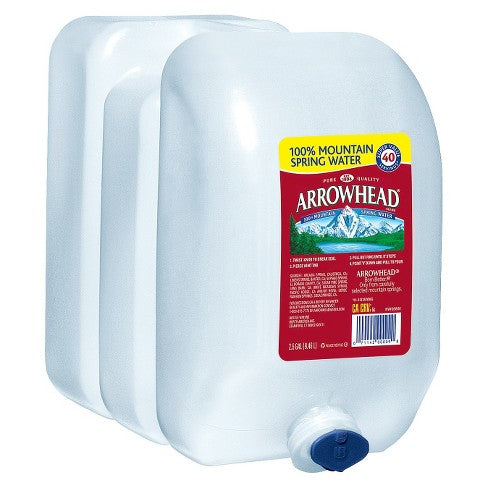 Arrowhead Brand 100% Mountain Spring Water - 2.5 gal Jug