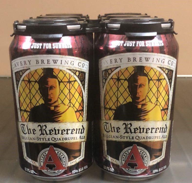 Avery Brewing Co, The Reverend , Belgian-Style Quadrupel Ale, 6 Pack  12oz Can