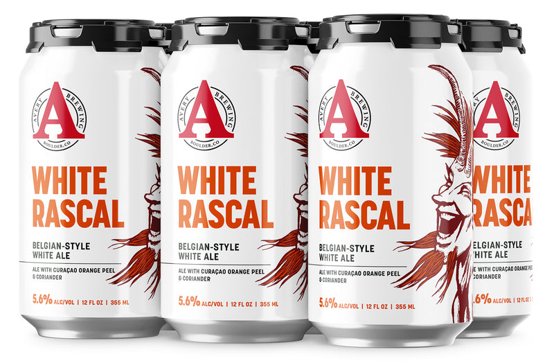 Avery Brewing Boulder Co, White Rascal Belgian-Style White Ale, 6 Pack Can