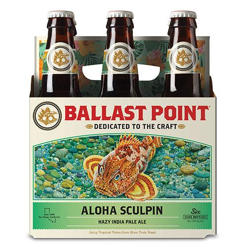 Ballast Point Brewing, Aloha Sculpin IPA, 6 Bottles briansdiscountmarket