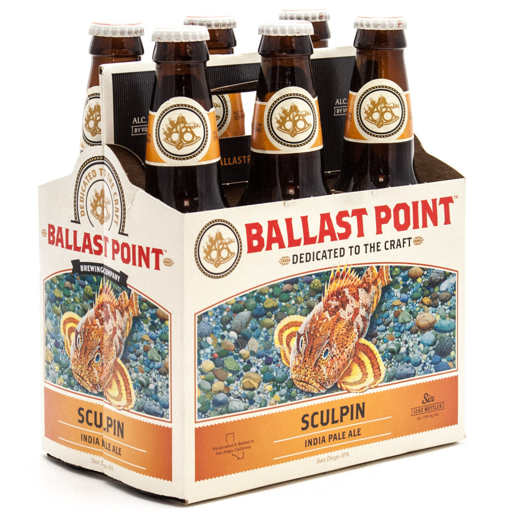 Ballast Point Sculpin IPA, 6 Pack 12oz Bottle