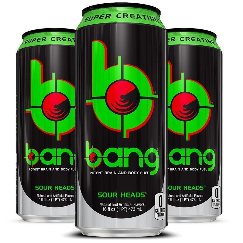 Bang Energy Drink , Sour Heads 16FL OZ Can