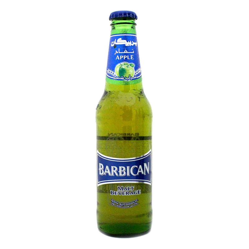 Barbican Non-Alcoholic Green Apple Malt Beverage, Single Glass Bottle