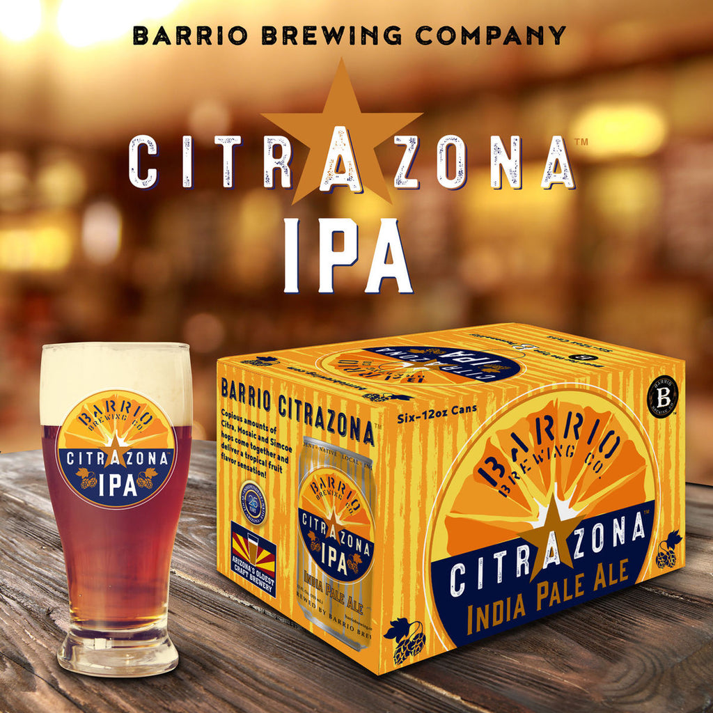 Barrio Citrazona IPA, 6 Pack, 12 oz Can