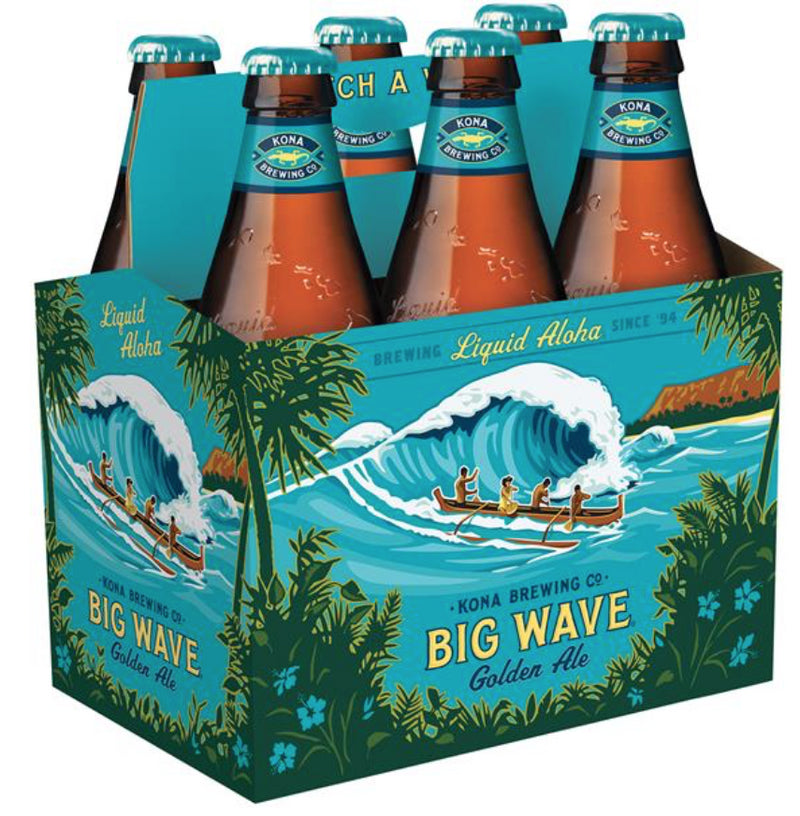 Kona Brewing Co. Big Wave Golden Ale, 6 Pack, 12 oz Bottle