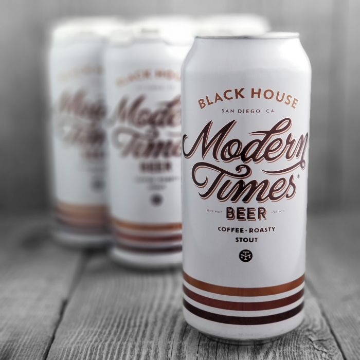 Black House Modern Times Beer, Coffee Roasty Stout , 4 Pack Cans