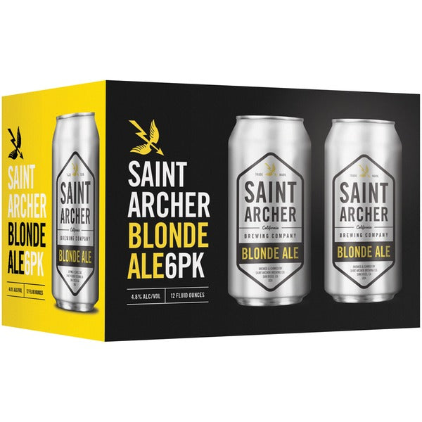Saint Archer Brewing Co, Blonde Ale, 6 Pack Cans.