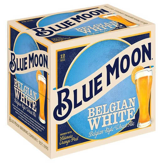 Blue Moon Belgian White Ale, 12 pack, 12 fl oz Bottles