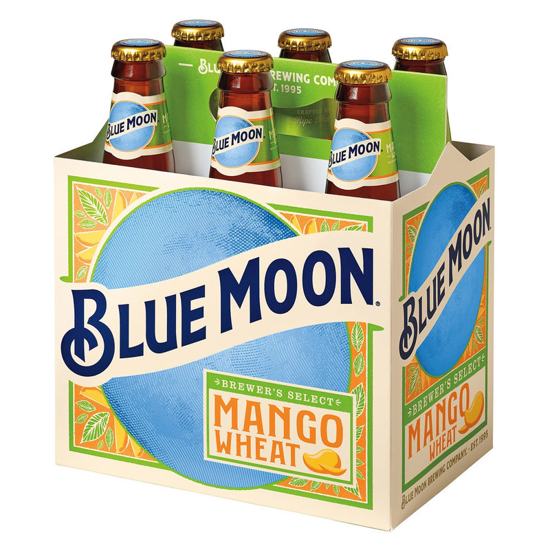 Blue Moon Mango Wheat, 6 Pack Bottle