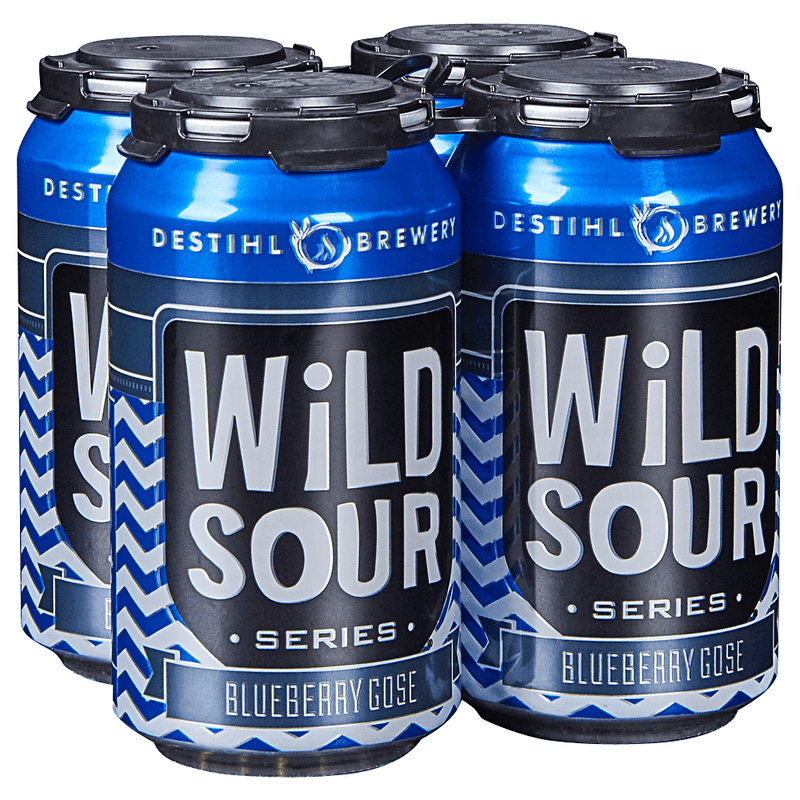 Destihl Brewery, Wild Sour Series, Blueberry Gose, 4 Pack Cans