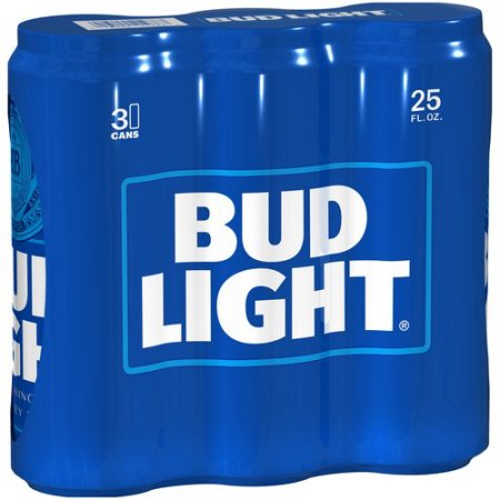 Bud Light Beer, 3 pack, 25 fl oz Can