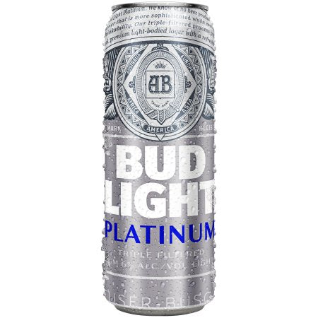 Bud Light Platinum Beer, 25 fl oz Can