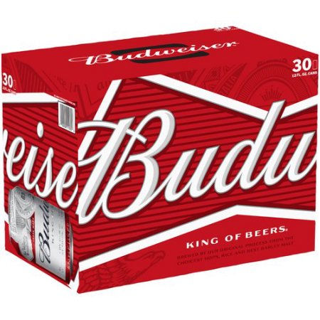Budweiser Beer, 30 pack, 12 fl oz Can