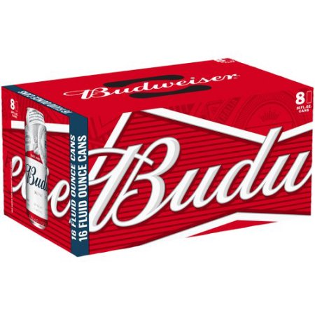 Budweiser Beer, 8 pack, 16 fl oz Can