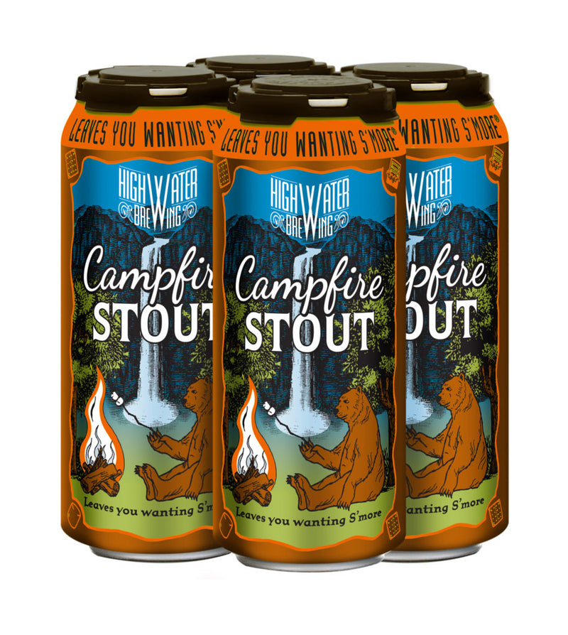 High Water Brewing Campfire Stout 4 pack briansdiscountmarket