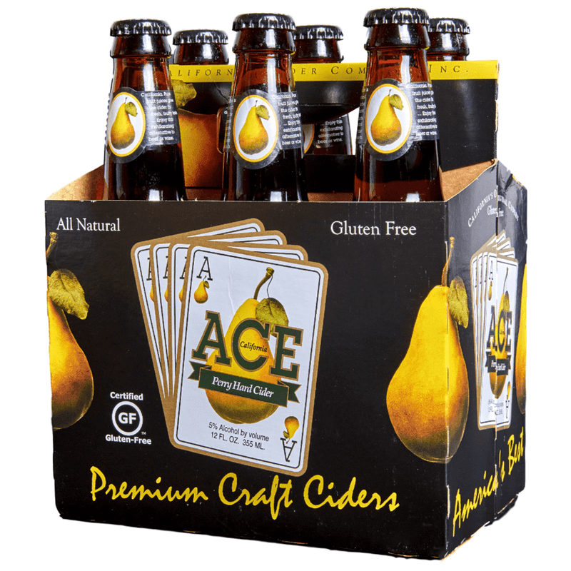 Ace Perry Pear Cider, 6 Pack 12oz Bottle