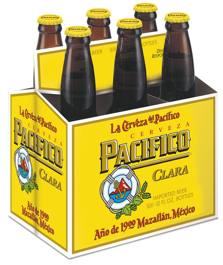 Pacifico Clara Bear, 6 Pack Bottle