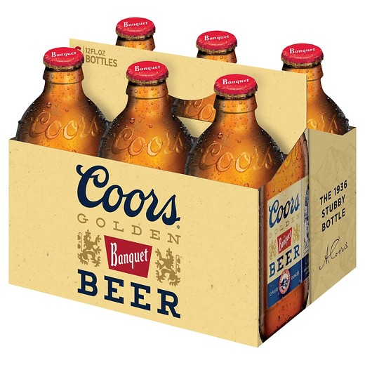 Coors® Golden Beer, 6 Pack, 12 oz