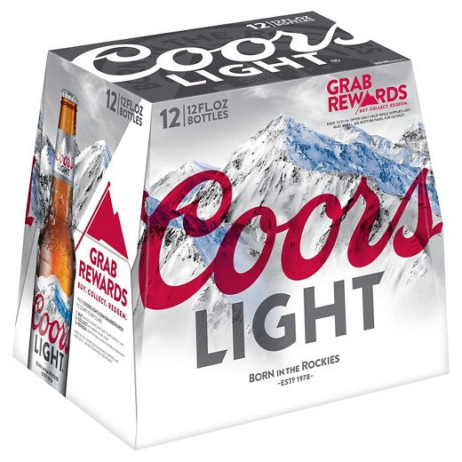 Coors Light® Beer , 12 Pack, 12oz Bottles