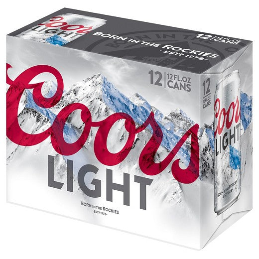 Coors Light® Beer, 12 pack, 12oz Cans