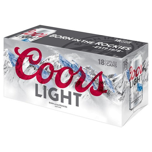 Coors Light® Beer, 18 pack, 12oz Cans