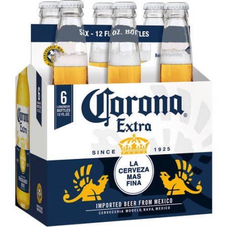 Corona Extra Beer, 6 pack, 12 fl oz Bottle