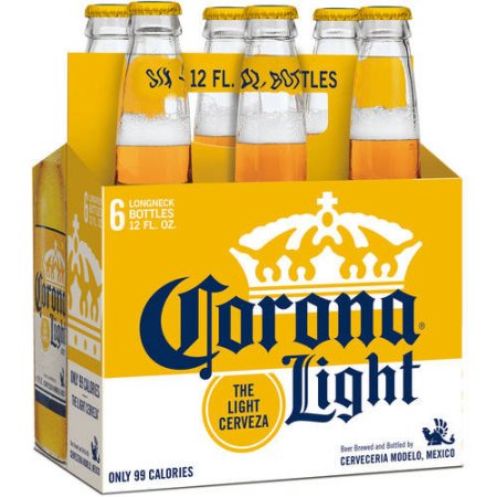 Corona Light Beer, 6 pack, 12 fl oz Bottle