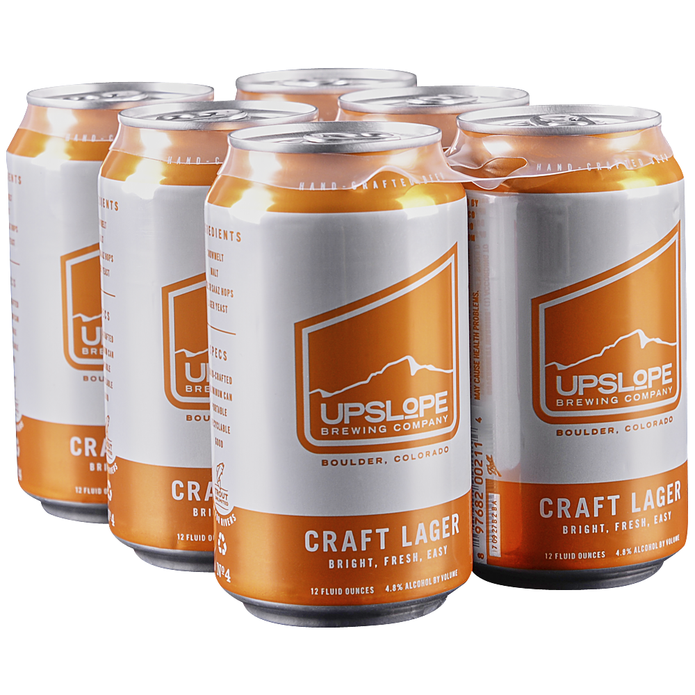 Upslope Brewing Co, Craft Lager, 6 Pack Cans
