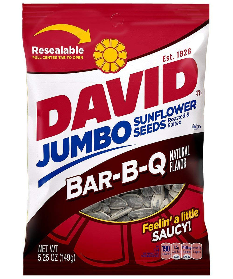 David Jumbo Sunflower Seeds, Bar-B-Q, 5.25 oz
