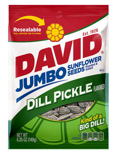 David Jumbo Sunflower Seeds, Dill Pickle, 5.25 oz