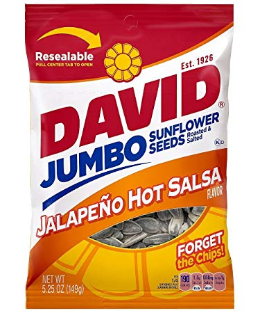 David® Jumbo Jalapeno Hot Salsa Flavor Sunflower Seeds 5.25 oz. Bag