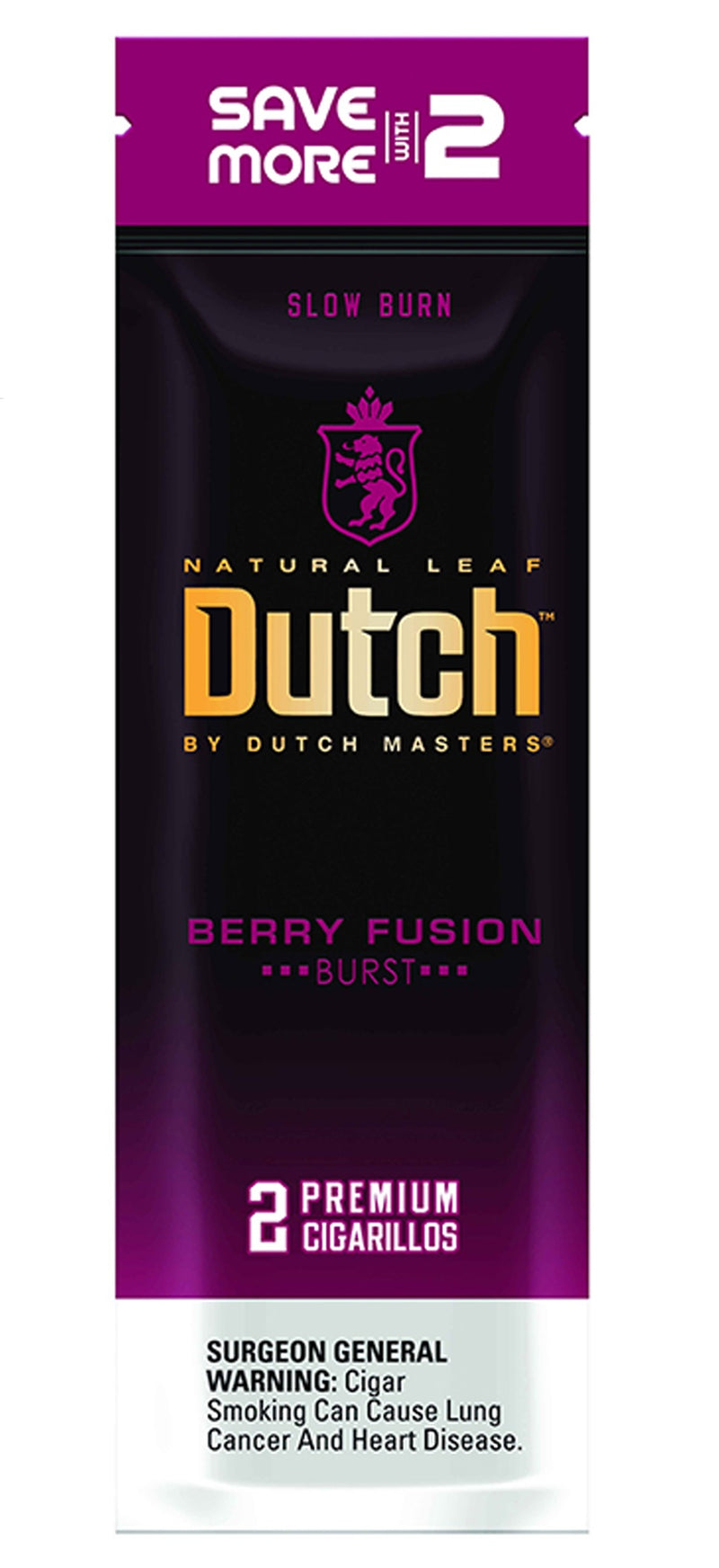 Dutch by Dutch Masters Cigarillos, Berry Fusion ( Pack of 2)