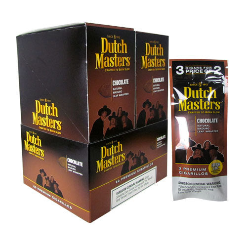 Dutch Masters Cigarillos, Chocolate (Pack of 3)