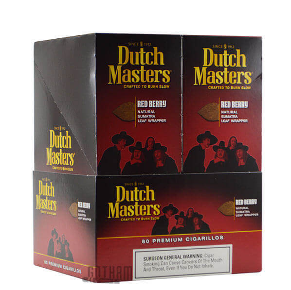 Dutch by Dutch Masters Cigarillos,  Red Berry (Pack of 3)