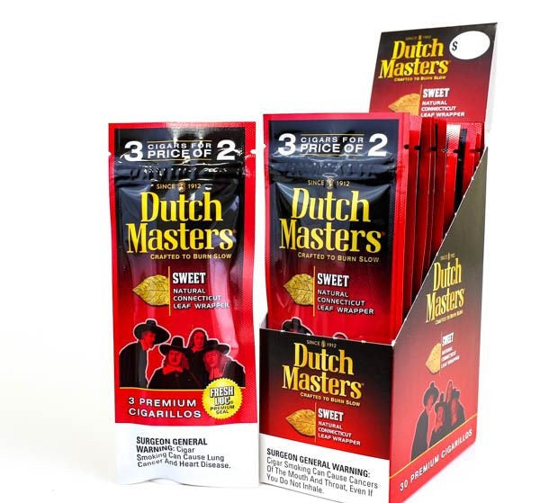 Dutch Masters Cigarillos, Sweet (Pack of 3)