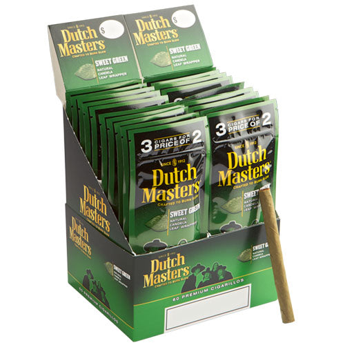 Dutch Masters Cigarillos, Green Sweet (Pack of 3)