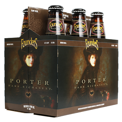 Founders Brewing Porter, 12 oz 6 Pack Bottle